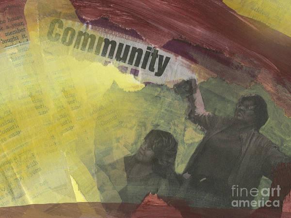 Wall Art - Painting - Community by Ellen Moore Osborne