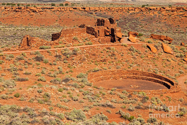 Photograph - Community Room At Wupatki Pueblo In Wupatki National Monument by Fred Stearns