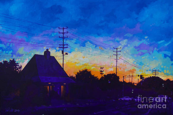 Commuter's Sunset Art Print
