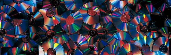 Roms Photograph - Compact Discs by Panoramic Images