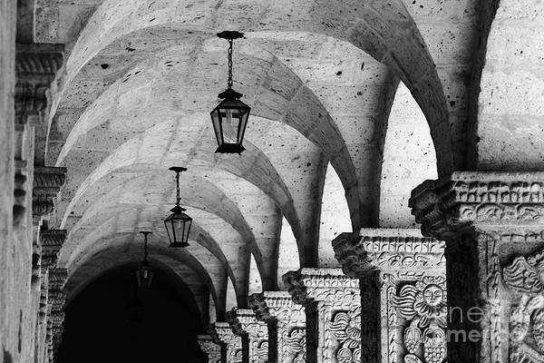 Photograph - Compania De Jesus Cloisters Arequipa by James Brunker