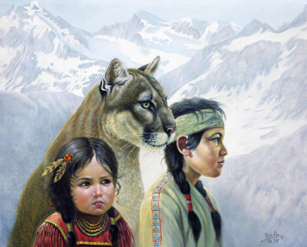 Mountain Lion Painting - Companions by Gregory Perillo