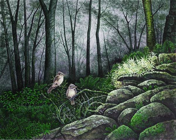 Flycatcher Painting - Companions by Michael Frank