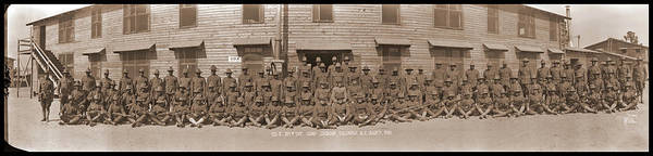 Platoon Wall Art - Photograph - Company E. 371st Infantry Camp Jackson by Fred Schutz Collection