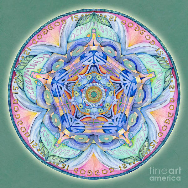 Painting - Compassion Mandala by Jo Thomas Blaine