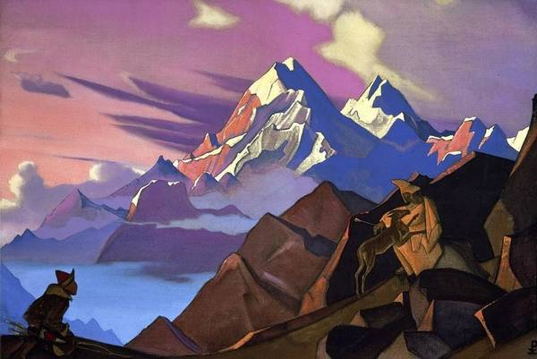 Nk Roerich Painting - Compassion by Nicholas Roerich