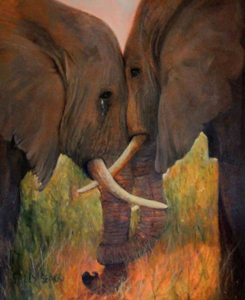 Compassion Painting - Compassion by Sally Seago