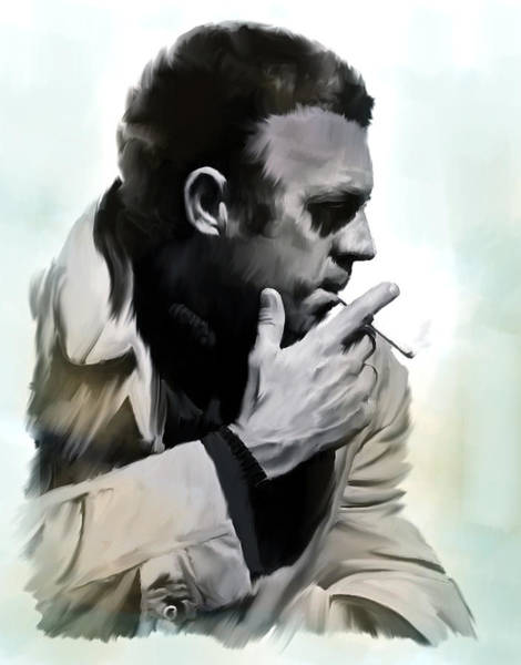 Painting - Coolness II  Steve Mcqueen by Iconic Images Art Gallery David Pucciarelli