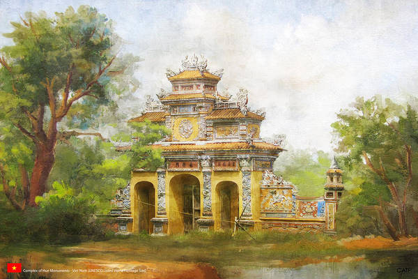 Wall Art - Painting - Complex Of Hue Monuments by Catf