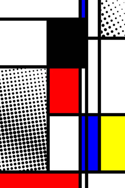 Primary Colors Mixed Media - Composition 100 by Dominic Piperata