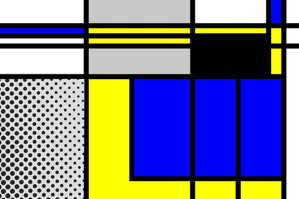 Primary Colors Mixed Media - Composition 101 by Dominic Piperata