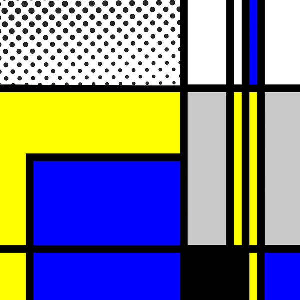 Primary Colors Mixed Media - Composition 103 by Dominic Piperata