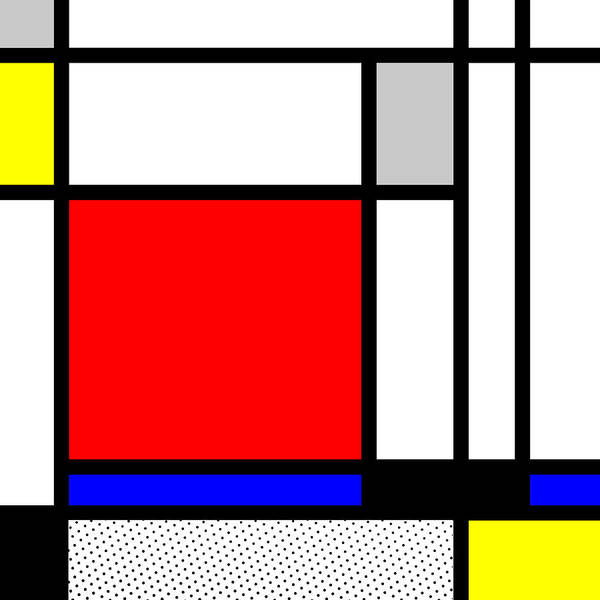 Primary Colors Mixed Media - Composition 104 by Dominic Piperata