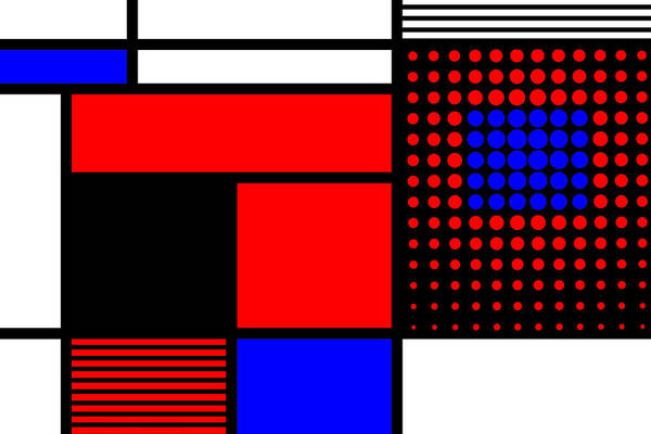 Primary Colors Mixed Media - Composition 109 by Dominic Piperata