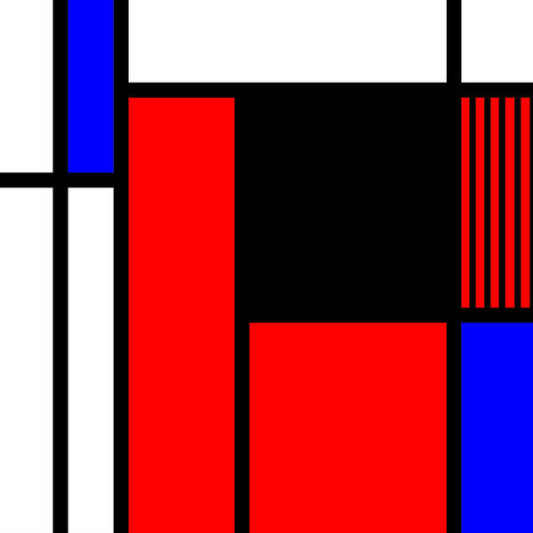 Primary Colors Mixed Media - Composition 110 by Dominic Piperata