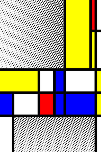 Primary Colors Mixed Media - Composition 111 by Dominic Piperata
