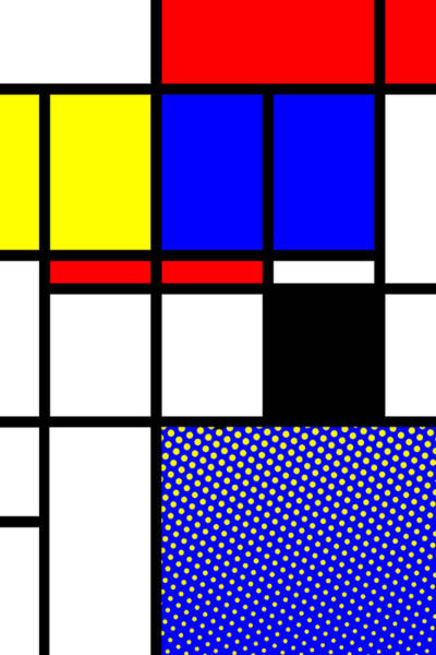 Primary Colors Mixed Media - Composition 113 by Dominic Piperata