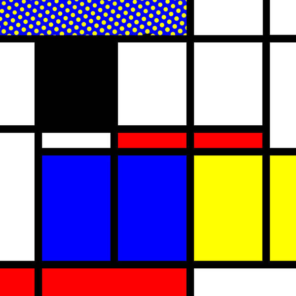 Primary Colors Mixed Media - Composition 114 by Dominic Piperata