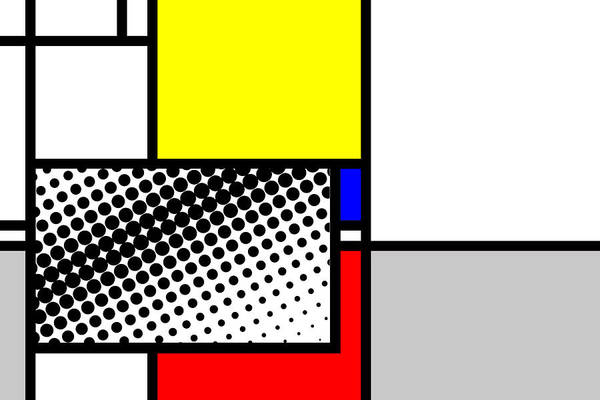 Primary Colors Mixed Media - Composition 115 by Dominic Piperata