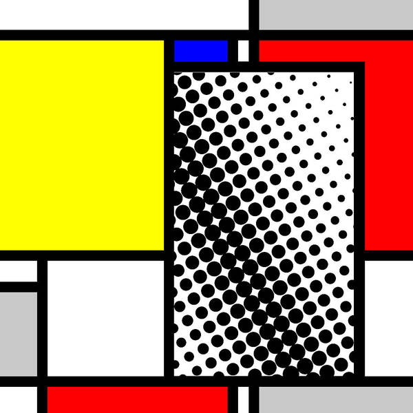 Primary Colors Mixed Media - Composition 116 by Dominic Piperata
