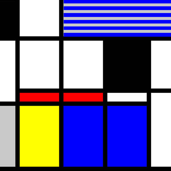 Primary Colors Mixed Media - Composition 117 by Dominic Piperata