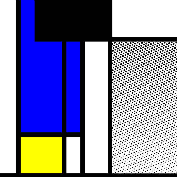 Primary Colors Mixed Media - Composition 119 by Dominic Piperata