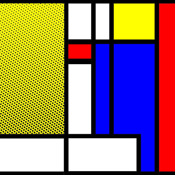Primary Colors Mixed Media - Composition 120 by Dominic Piperata