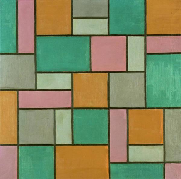 De Stijl Painting - Composition Seventeen by Theo van Doesburg