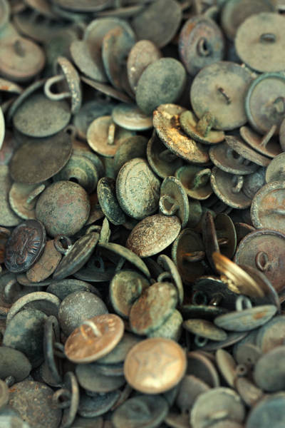 War Eagle Photograph - Composition With Old Rusty Vintage Buttons by Jaroslaw Blaminsky