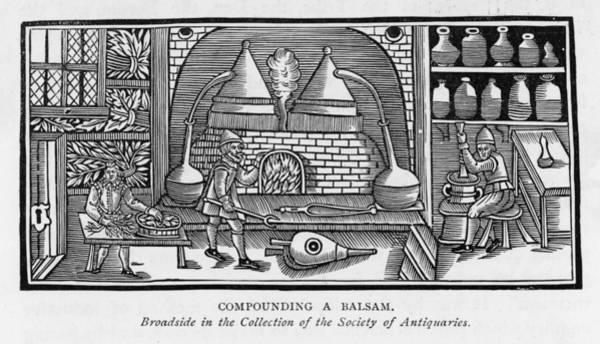Wall Art - Drawing - Compounding A Balsam by Mary Evans Picture Library