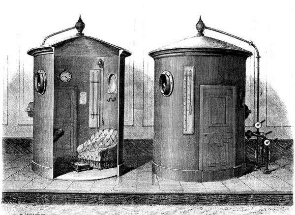 1889 Photograph - Compressed Air Baths by Collection Abecasis