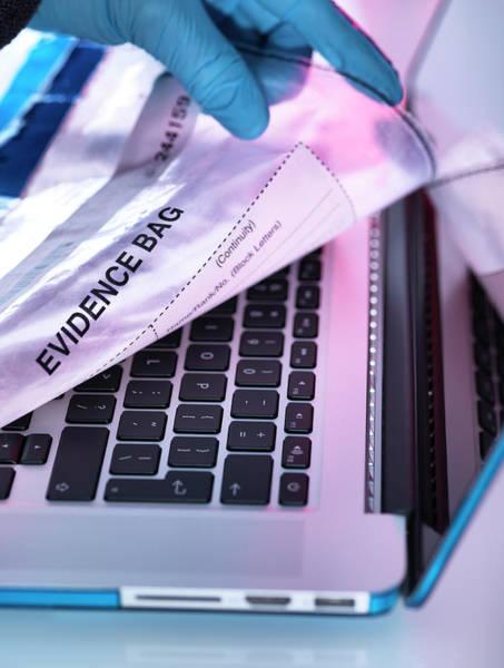 Fraud Photograph - Computer Crime by Tek Image