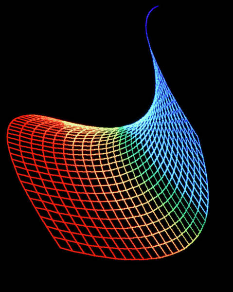 Saddle Photograph - Computer Generated Mathematical Saddle by Alfred Pasieka/science Photo Library
