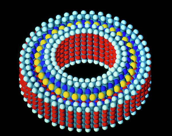 Nanotechnology Photograph - Computer Graphic Of A Molecular Bearing by Peter Menzel/science Photo Library