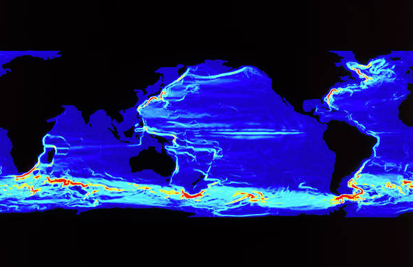Current Photograph - Computer Model Of Global Ocean Currents by Los Alamos National Laboratory/science Photo Library
