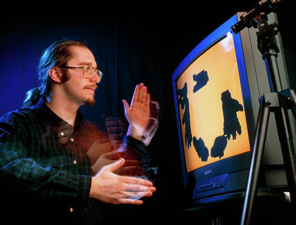 Language Photograph - Computer Recognition Of Hand Sign Language by Sam Ogden/science Photo Library