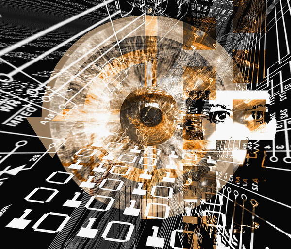 Surveillance Wall Art - Photograph - Computer Surveillance by Mehau Kulyk/science Photo Library
