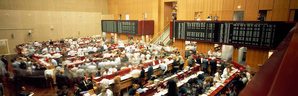 Shares Photograph - Computerized Trading Floor by Panoramic Images