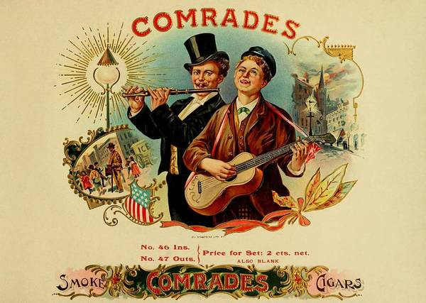 Painting - Comrades Vintage Cigar Advertisement by Movie Poster Prints