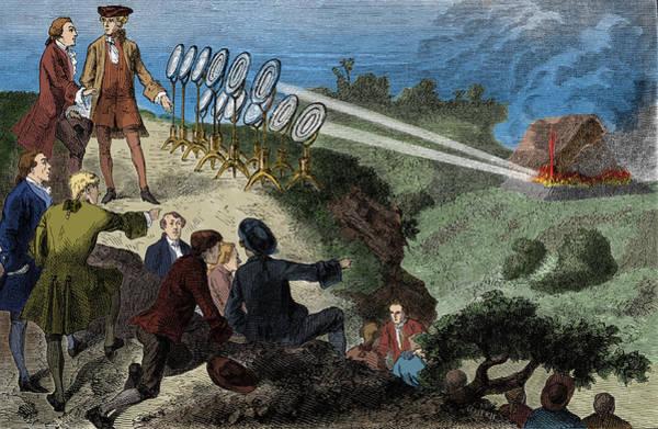 Wall Art - Photograph - Comte De Buffon Recreating Heat Ray by Science Source