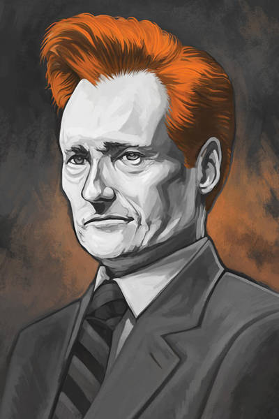 Television Painting - Conan O'brien Artwork by Sheraz A