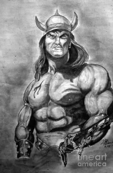 Drawing - Conan The Barbarian by Bill Richards