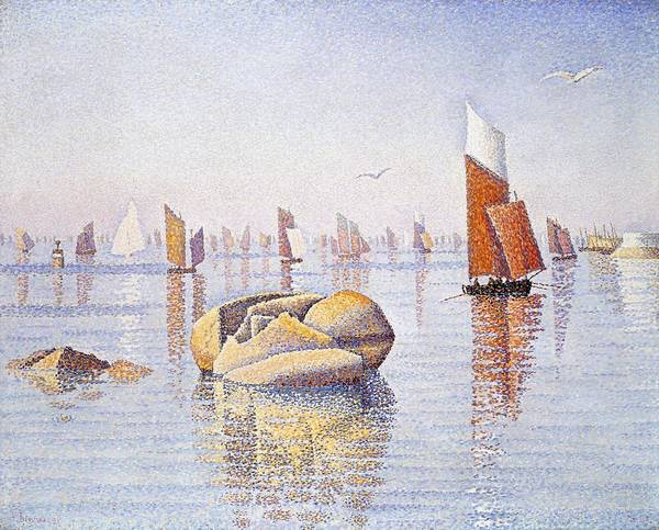 Tranquility Painting - Concarneau   Quiet Morning by Paul Signac