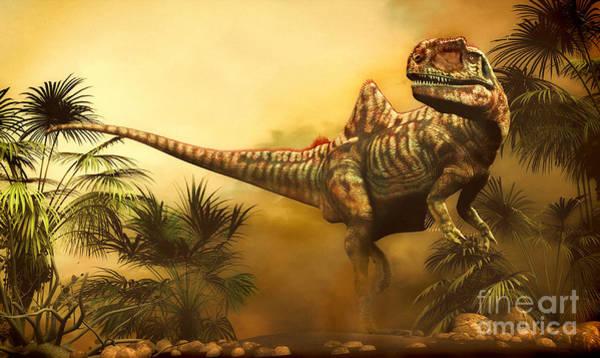 Paleobotany Digital Art - Concavenator Was A Theropod Dinosaur by Philip Brownlow