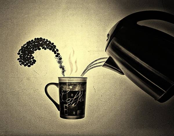 Photograph - Conceptual Coffee by Mark Fuller