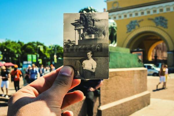 Conceptual Comparison With Old Photograph Outdoors Art Print by Georgy Dorofeev / EyeEm