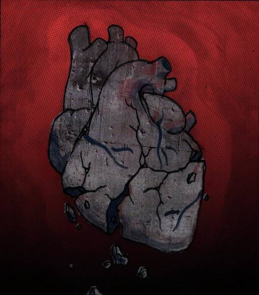 Anguish Photograph - Conceptual Illustration Of Broken Human Heart by Fanatic Studio / Science Photo Library