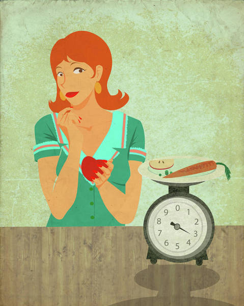 Anorexia Photograph - Conceptual Illustration Of Dieting by Fanatic Studio / Science Photo Library