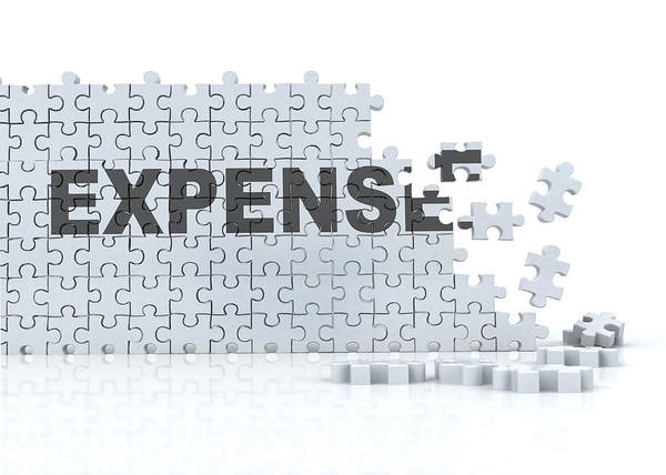 Wall Art - Photograph - Conceptual Illustration Of Expenses On Puzzle by Fanatic Studio / Science Photo Library