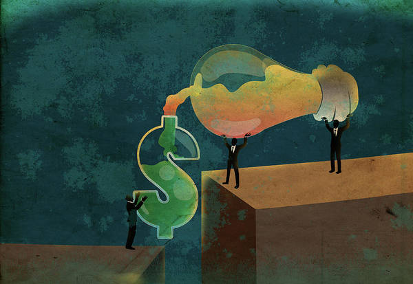 Impression Photograph - Conceptual Illustration Of Money Making by Fanatic Studio / Science Photo Library